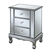 This item: Gold Coast Vineyard 3 Drawer Mirrored End Table