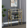 This item: Gold Coast Mirror and Gold Bar Hall Table