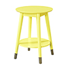This item: Wilson Mid Century Round End Table with Bottom Shelf