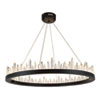 This item: Malta Satin Dark Grey 40-Light LED Chandelier