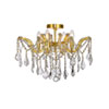 This item: Maria Theresa Gold 18-Inch Four-Light Flush Mount with Clear Spectra Crystal