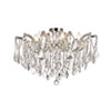 This item: Maria Theresa Chrome 24-Inch Six-Light Flush Mount with Clear Royal Cut Crystal