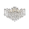 This item: Maria Theresa Chrome 36-Inch Eight-Light Flush Mount with Clear Elegant Cut Crystal