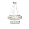 This item: Monroe Chrome 26-Inch Two-Tier LED Chandelier