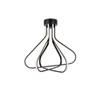 This item: Dahlia Black 27-Inch Three-Light LED Flush Mount