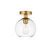 This item: Baxter Brass Seven-Inch One-Light Semi-Flush Mount