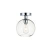 This item: Baxter Chrome Seven-Inch One-Light Semi-Flush Mount