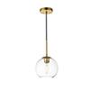 This item: Baxter Brass Seven-Inch One-Light Mini Pendant