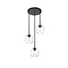 This item: Baxter Black 18-Inch Three-Light Pendant