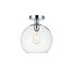 This item: Baxter Chrome Nine-Inch One-Light Semi-Flush Mount