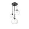This item: Baxter Black 11-Inch Three-Light Pendant