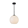 This item: Baxter Black and Frosted White 11-Inch One-Light Pendant