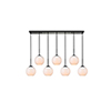 This item: Baxter Black and Frosted White Seven-Light Mini Pendant