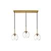 This item: Baxter Brass Seven-Inch Three-Light Mini Pendant