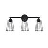 This item: Auspice Black Three-Light Wall Sconce