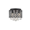 This item: Tully Matte Black 10-Inch Three-Light Flush Mount