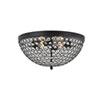 This item: Taye Matte Black 18-Inch Four-Light Flush Mount