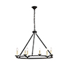 This item: Maine Black Six-Light Chandelier