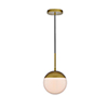 This item: Eclipse Brass and Frosted White One-Light Mini Pendant