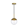 This item: Eclipse Brass One-Light Mini Pendant