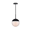 This item: Eclipse Black and Frosted White 10-Inch One-Light Pendant