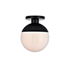 This item: Eclipse Black and Frosted White 12-Inch One-Light Semi-Flush Mount