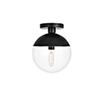 This item: Eclipse Black 10-Inch One-Light Semi-Flush Mount