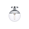 This item: Eclipse Chrome 10-Inch One-Light Semi-Flush Mount