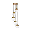 This item: Eclipse Brass 18-Inch Five-Light Pendant