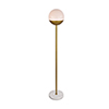 This item: Eclipse Brass and Frosted White 62-Inch One-Light Floor Lamp