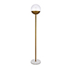 This item: Eclipse Brass 62-Inch One-Light Floor Lamp