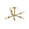 This item: Axel Brass Six-Light Semi-Flush Mount