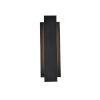This item: Raine Black 100 Lumens 12-Light LED Outdoor Wall Sconce