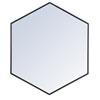 This item: Eternity Black 38-Inch Hexagon Mirror