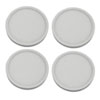 This item: White Five-Inch 3000K LED Recessed Disk Light, Pack of Four