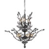 This item: Orchid Dark Bronze Eight-Light Chandelier with Clear Elegant Cut Crystal