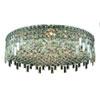 This item: Maxime Chrome Nine-Light Flush Mount with Clear Elegant Cut Crystal