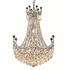 This item: Corona Chrome 24-Inch 18-Light Chandelier with Royal Cut Crystal