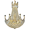 This item: Corona Gold 24-Inch 18-Light Chandelier with Royal Cut Crystal