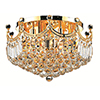 This item: Corona Gold 20-Inch Nine-Light Flush Mount with Royal Cut Crystal