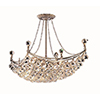 This item: Corona Chrome 16-Inch Eight-Light Chandelier with Royal Cut Crystal