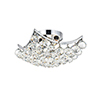 This item: Corona Chrome 12-Inch Four-Light Flush Mount with Royal Cut Crystal