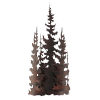 This item: Rustic Living II Burnt Sienna One-Light Iron Trees Wall Sconce