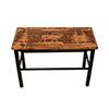 This item: Rustic Living Brown and Black Wooden Elk Scene Bench