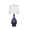 This item: Two Tone Navy and Gold One-Light 15-Inch Table Lamp with Round Gold Base