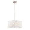 This item: Brushed Nickel Three-Light Pendant