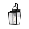This item: Powder Coat Black Seven-Inch One-Light Outdoor Wall Sconce