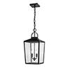 This item: Powder Coat Black Two-Light Outdoor Pendant