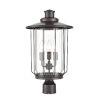 This item: Belvoir Powder Coat Bronze Four-Light Outdoor Post Lantern With Transparent Glass
