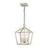 This item: Vintage White Four-Light Pendant